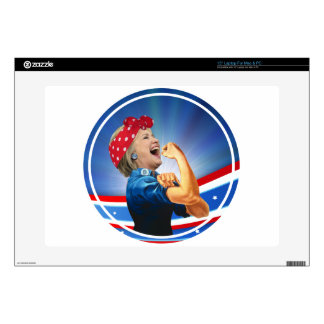"""Hillary Clinton 1st Woman Presidential Nominee Skin For 15"""" Laptop"""