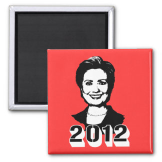 Hillary Clinton 2012 2 Inch Square Magnet