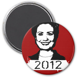 Hillary Clinton 2012 3 Inch Round Magnet