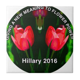Hillary Clinton 2015 Azulejo Cuadrado Pequeño