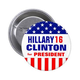 HILLARY CLINTON 2016 2 INCH ROUND BUTTON