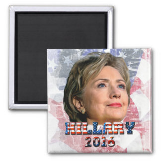 Hillary Clinton 2016 2 Inch Square Magnet