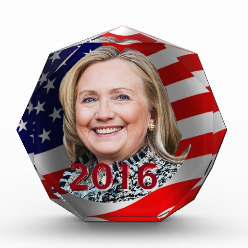Hillary Clinton 2016 Acrylic Award