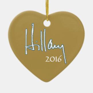 Hillary Clinton 2016 Adorno Navideño De Cerámica En Forma De Corazón