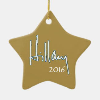 Hillary Clinton 2016 Adorno Navideño De Cerámica En Forma De Estrella