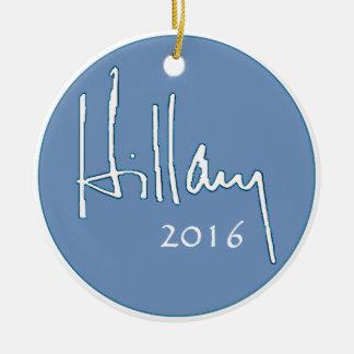 Hillary Clinton 2016 Adorno Navideño Redondo De Cerámica