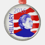 Hillary Clinton 2016 Adorno Navideño Redondo De Metal