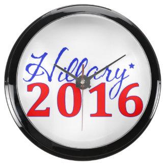 Hillary Clinton 2016 Aquavista Clock