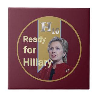 Hillary Clinton 2016 Azulejo Cuadrado Pequeño