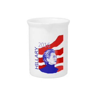 Hillary Clinton 2016 Beverage Pitchers