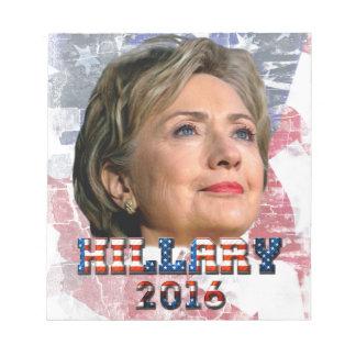 Hillary Clinton 2016 Libretas Para Notas