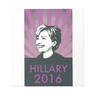 Hillary Clinton 2016 Bloc De Papel