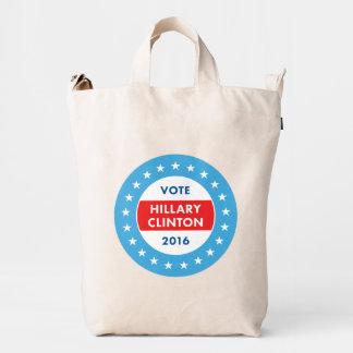 Hillary Clinton 2016 Bolsa De Lona Duck