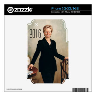Hillary Clinton 2016 Calcomanías Para El iPhone 3GS