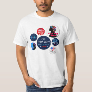 Hillary Clinton 2016 Campaign Buttons T-shirt