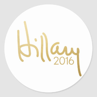 Hillary Clinton 2016 Campaign Gear - gold Classic Round Sticker