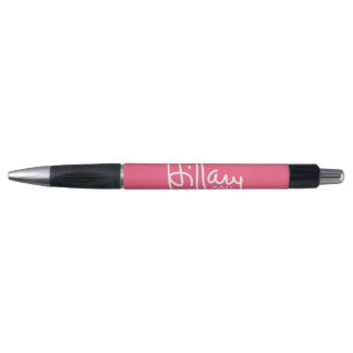 Hillary Clinton 2016 Campaign Gear Pink Rubber Grip Pen