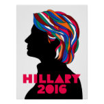 Hillary Clinton 2016 Campaign Retro Poster (Large)