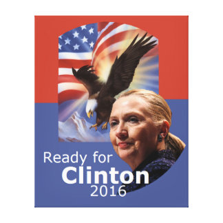 Hillary Clinton 2016 Gallery Wrapped Canvas