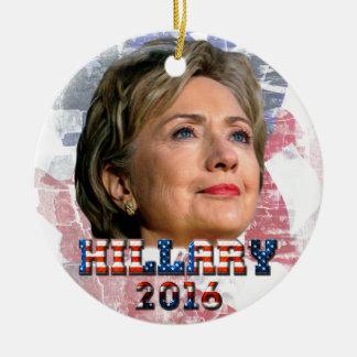 Hillary Clinton 2016 Ceramic Ornament