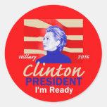 Hillary CLINTON 2016 Classic Round Sticker
