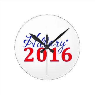 Hillary Clinton 2016 Round Clocks