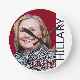 Hillary Clinton 2016 Round Wallclock