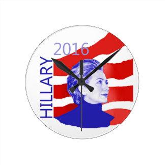 Hillary Clinton 2016 Round Wall Clock