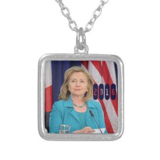 Hillary Clinton 2016 Colgante Cuadrado