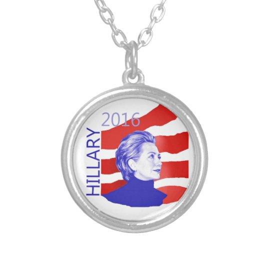 Hillary Clinton 2016 Collar Plateado