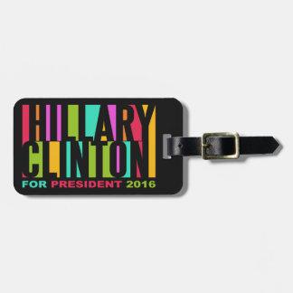 Hillary Clinton 2016 custom luggage tag