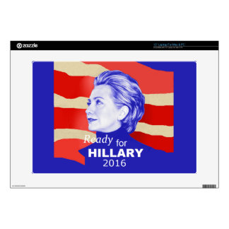"Hillary Clinton 2016 Decal For 15"" Laptop"