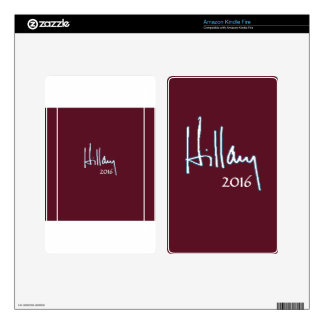Hillary Clinton 2016 Decal For Kindle Fire