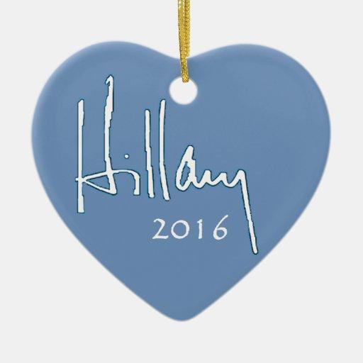 Hillary Clinton 2016 Adorno De Cerámica En Forma De Corazón