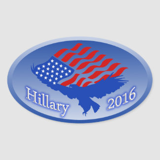 Hillary Clinton 2016 - Democratic BLUE! PRESIDENT Oval Sticker