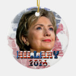 Hillary Clinton 2016 Double-Sided Ceramic Round Christmas Ornament