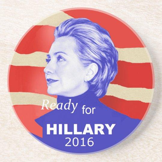 Hillary Clinton 2016 Drink Coaster