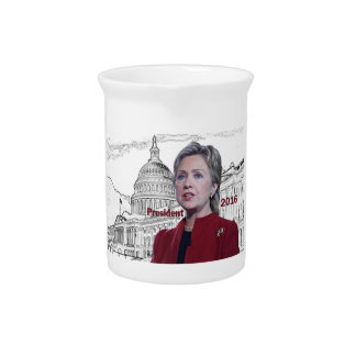 Hillary Clinton 2016 Drink Pitcher