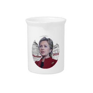 Hillary Clinton 2016 Drink Pitchers