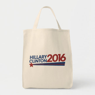Hillary Clinton 2016 election Grocery Tote Bag