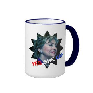 Hillary Clinton 2016 - Ella puede sí - taza