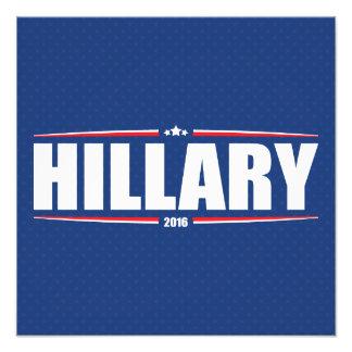 Hillary Clinton 2016 (estrellas y rayas - azul) Arte Con Fotos