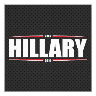 Hillary Clinton 2016 (estrellas y rayas - negro) Impresiones Fotograficas
