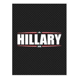 Hillary Clinton 2016 (estrellas y rayas - negro) Postal