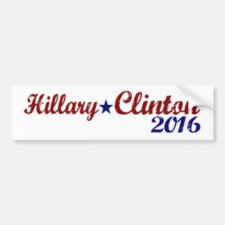 Hillary Clinton 2016 Etiqueta De Parachoque