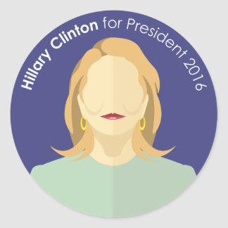 Hillary Clinton 2016 for president custom sticker