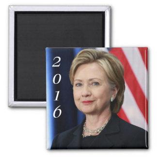 Hillary Clinton 2016 Imán Cuadrado