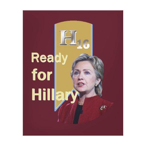 Hillary Clinton 2016 Impresión En Lona Estirada