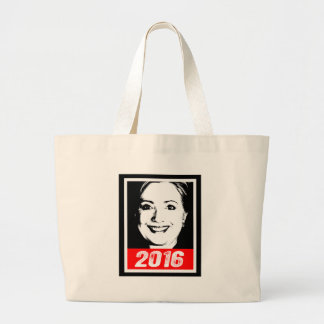 HILLARY CLINTON 2016 INK ART.png Bags