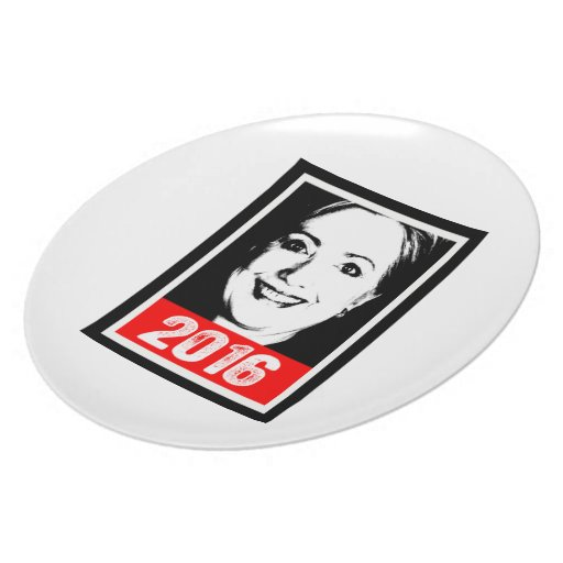HILLARY CLINTON 2016 INK ART.png Party Plates